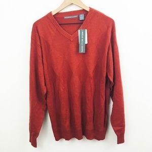 NWT! Oscar de la Renta V-Neck Red Sweater